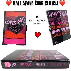 Kate Spade Romeo & Juliette Book Library Clutch